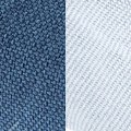 blue fabric/light blue fabri