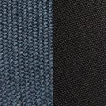 grey-blue fabric/black fabric