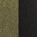 green fabric/black fabric
